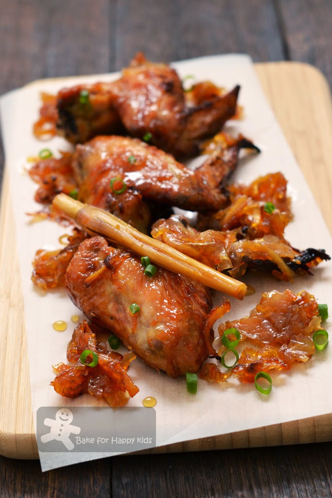 Bake For Happy Kids Orange And Ginger Caramelised Chicken Wings