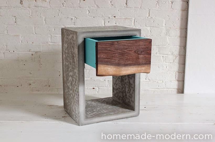 ma maison au naturel une table de chevet design faire soi m me. Black Bedroom Furniture Sets. Home Design Ideas
