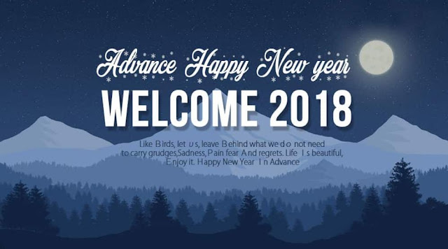 Happy New Year in Advance 2018 Wishes SMS Images