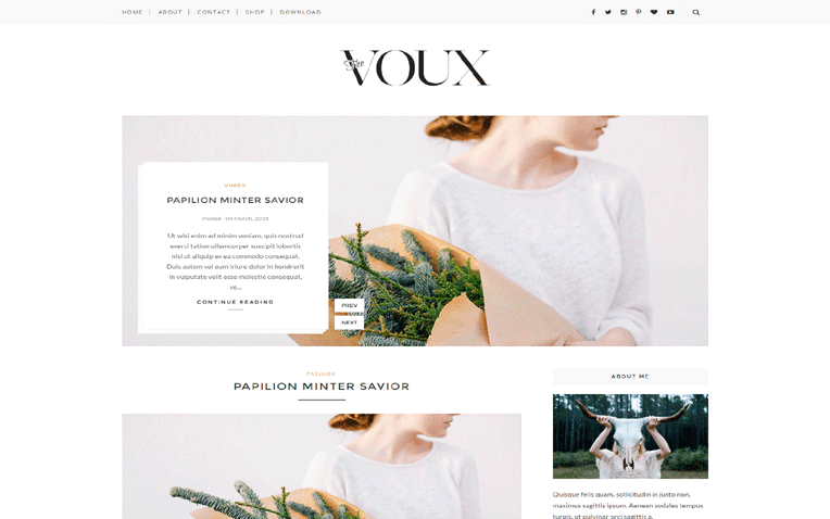 Voux Free Blogger Template