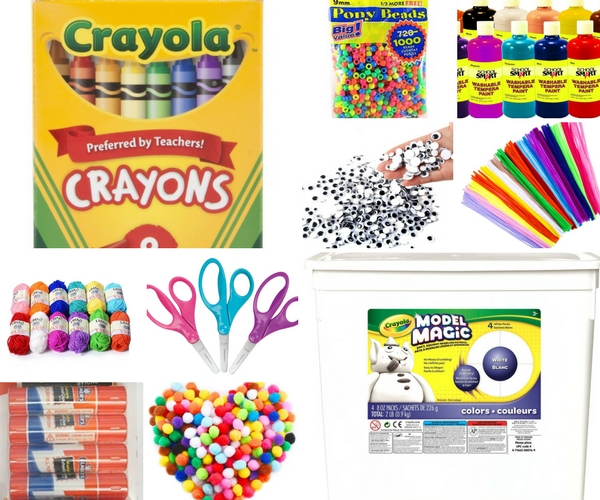 Kids' craft supplies