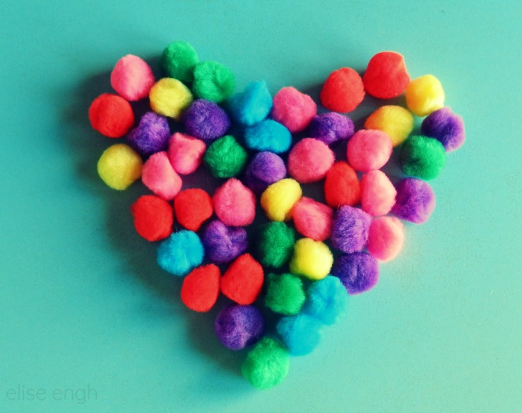 Valentine's Heart Photography- poms- Grow Creative