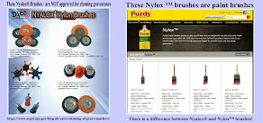 NYALOX BRUSHES DAMAGE GRAVESTONES