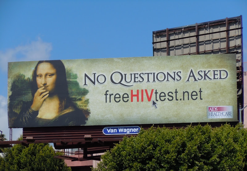 Mona Lisa HIV test billboard