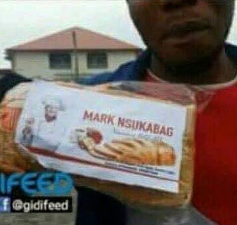 Mark Zuckerberg bread? Check out this bread someone bought in Onitsha