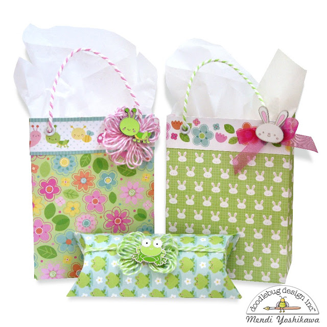 Doodlebug Design Inc. Spring Things & Easter Express Gift Bags featuring Collector Pins by Mendi Yoshikawa