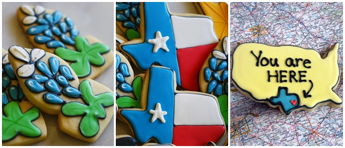 Bake at 350 decorated cookie index: Texas cookies