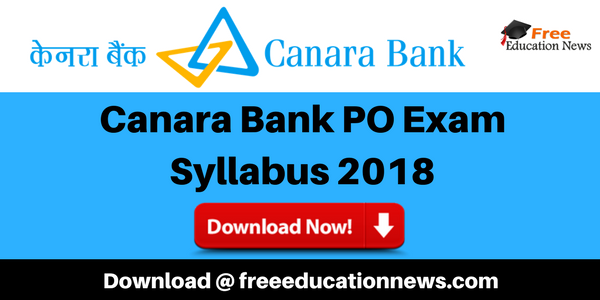 Canara Bank Syllabus