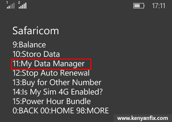 my data manager ussd