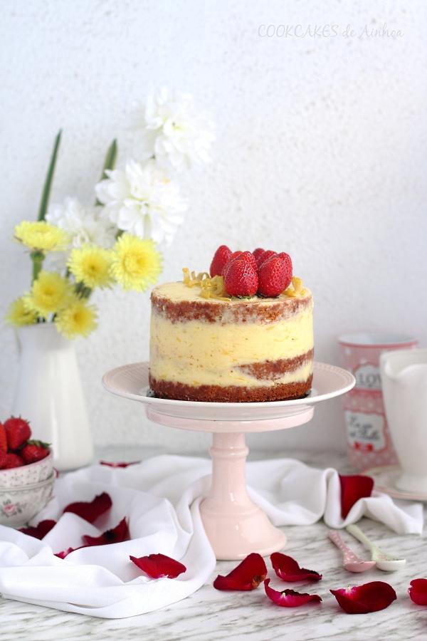 Layer Cake de Limón y Fresa