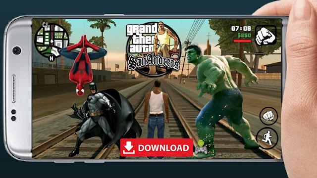 Download GTA SA Mod Super Hero Android