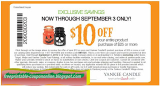 Free Printable Yankee Candle Coupons