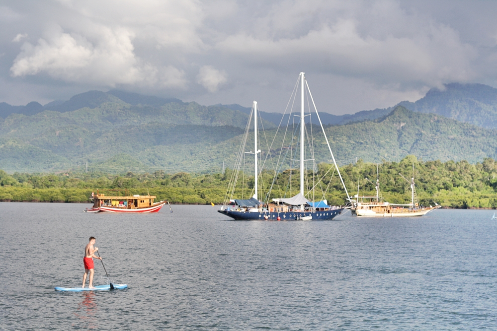 PADDLE BOARDING IN WEST BALI AT MENJANGAN DYNASTY RESORT DIVE CENTER