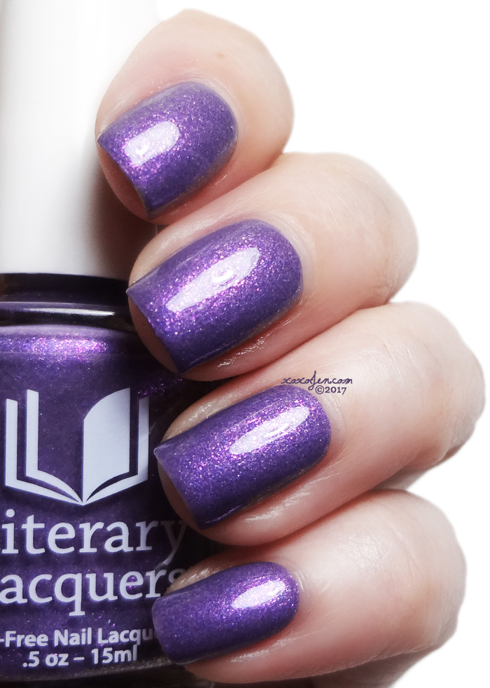 xoxoJen's swatch of Literary Lacquers Marilla's Amethyst Brooch