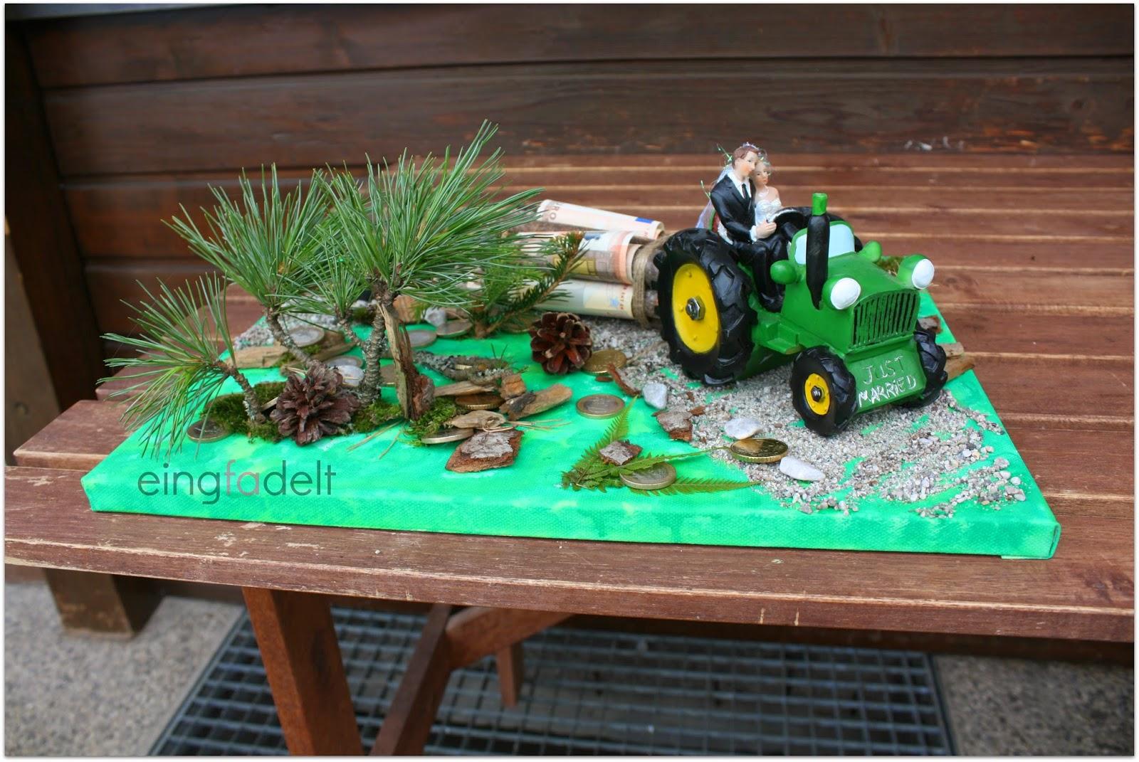 Geldgeschenk Traktor Basteln  dansenfeesten