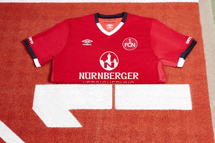 Umbro 1.fc Nuremberg Enfants Entraînement Jersey FCN maillot junior Shirt Club 134-158