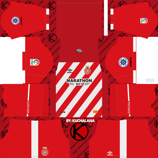 b736e22c4 Girona FC 2018 19 Kit - Dream League Soccer Kits - Kuchalana