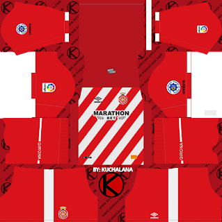 Girona FC 2018/19 Kit - Dream League Soccer Kits