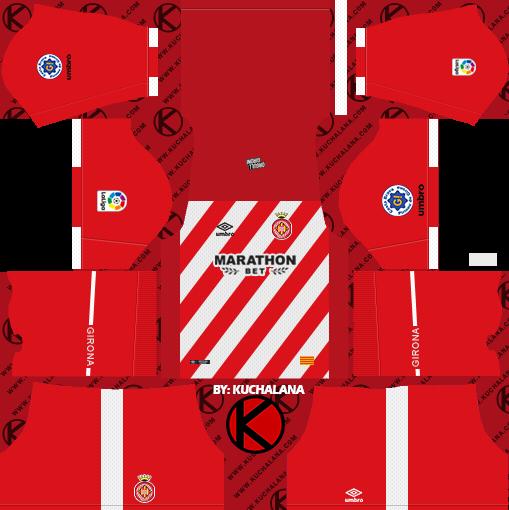 Girona FC 2018/19 Kit - Dream League Soccer Kits