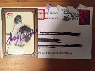 signed sealed delivered they re mine jimmy piersall ttm