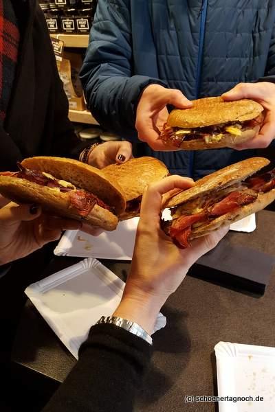 Donnerstag gibt es in der Metzgerei Brath Pastrami-Sandwich