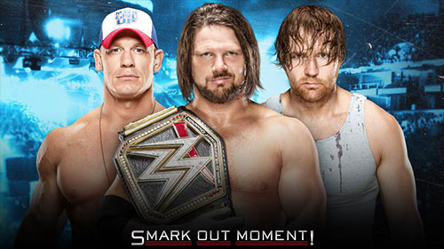 WWE No Mercy 2016 John Cena vs AJ Styles vs Dean Ambrose