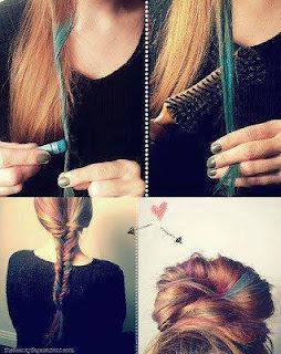 Saçları Pastel  Boya ile Gölge Atma