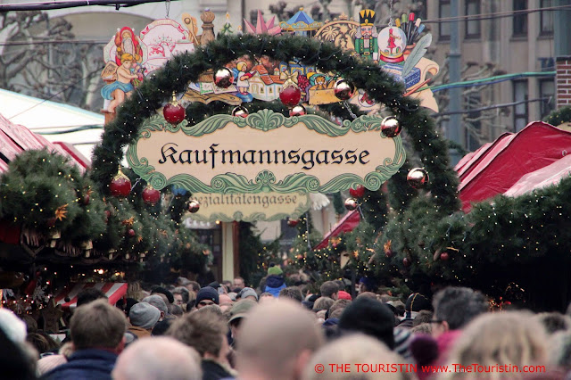 Historical Christmas Market at the Town Hall Hamburg Germany