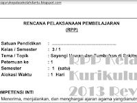 RPP Kelas 3 Tema 1 K3 Revisi