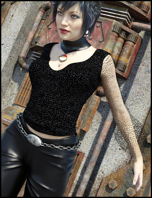 She's Rock Outfit for Genesis 3 Female