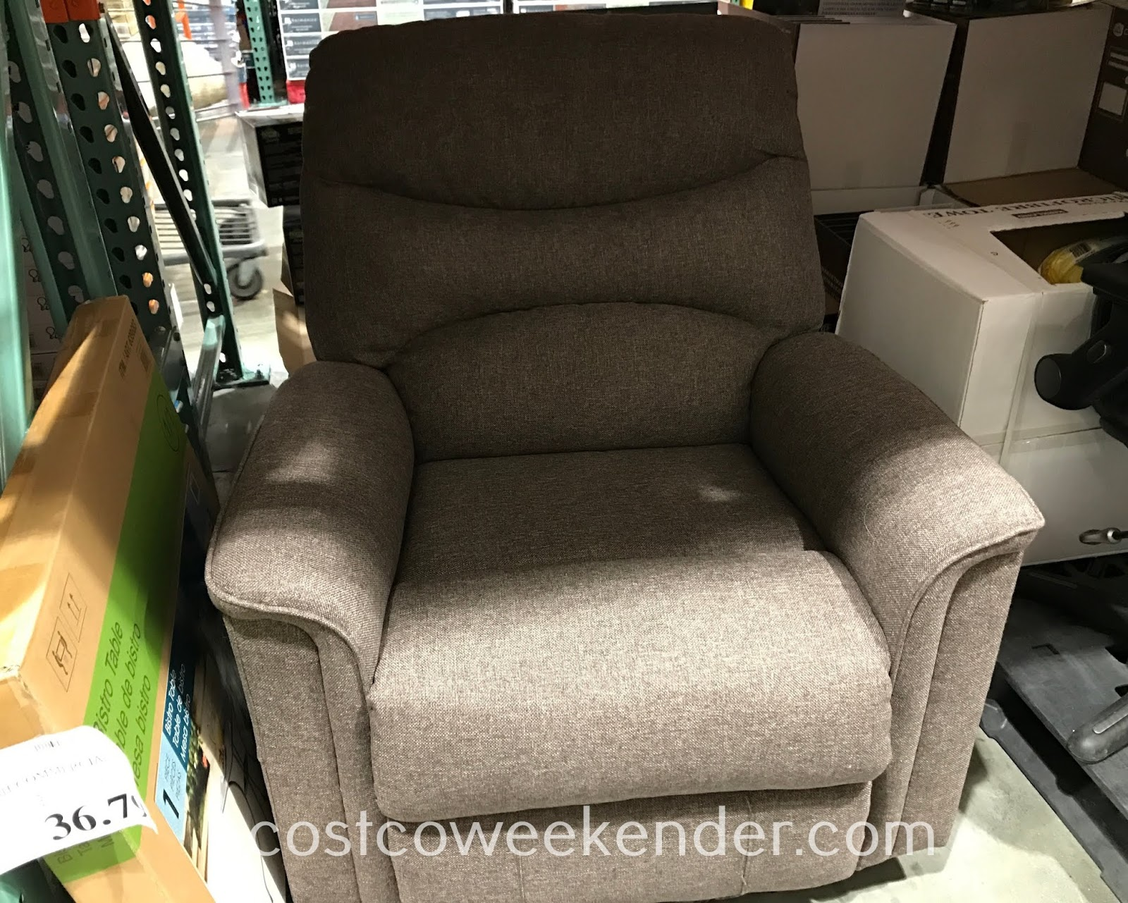 After a long day of work, watch tv and relax on your Pulaski Fabric Power Recliner