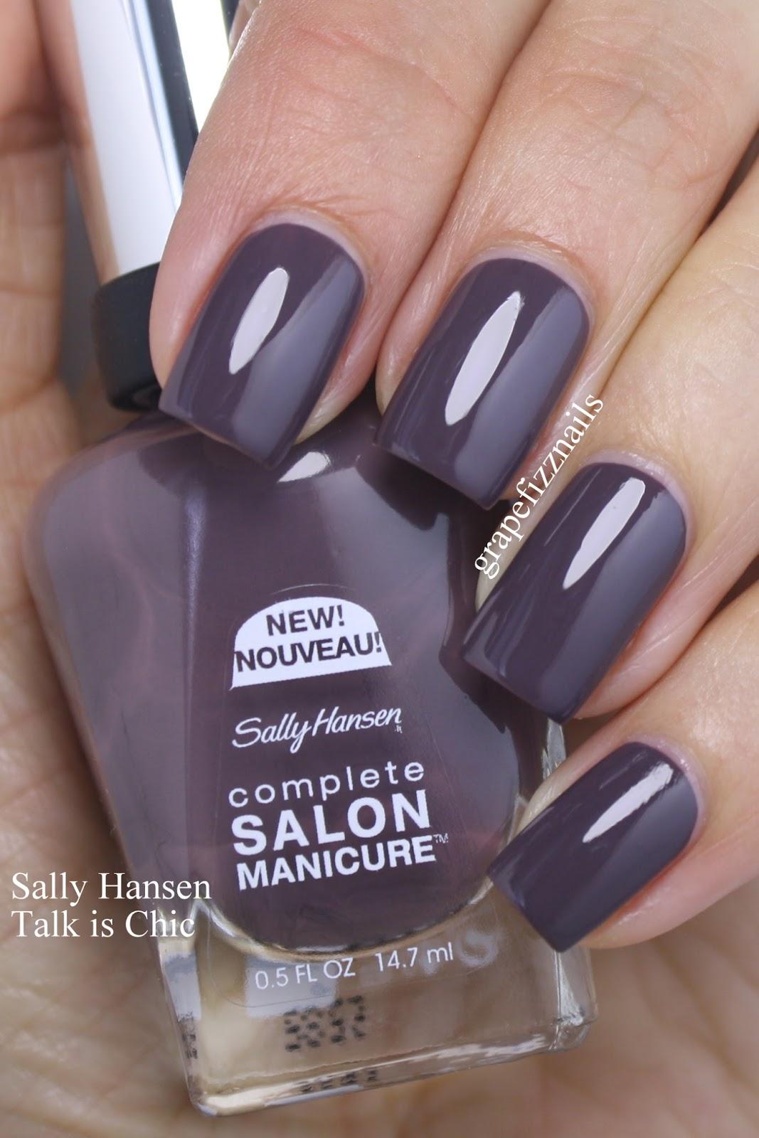 Grape Fizz Nails Sally Hansen Fall Collection 2016 Complete Salon Manicure