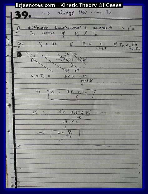 Kinetic Theory Of Gases Notes IITJEE9