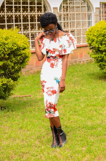 How You Can A Wear Floral Off-Shoulder Bodycon Dress