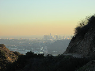 View southwest toward downtown L.A. from Wildwood Canyon