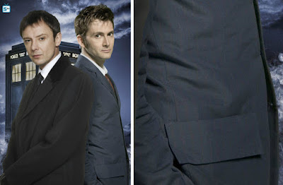 10th Doctor blue suit side panel