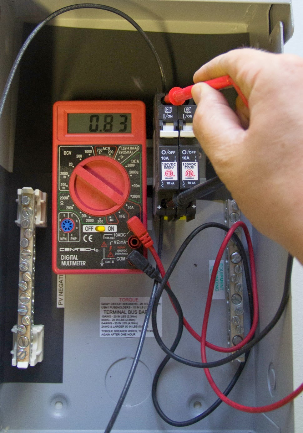 Solar Pv Array Maintenance Checklist Ewb Usa Energy Residential Wiring Figure 8 Measuring String Operating Current