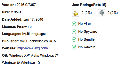 AVG Anti-Virus Free Edition Download