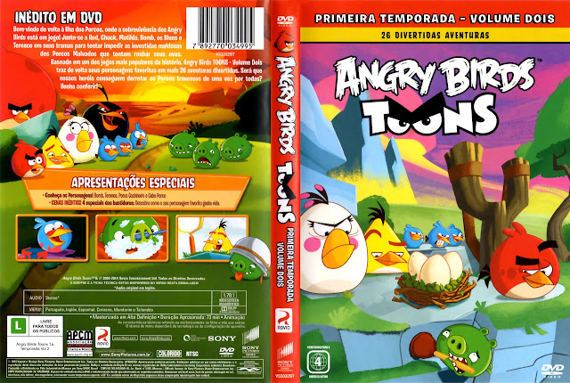 Capa DVD ANGRY BIRDS TOONS VOLUME DOIS