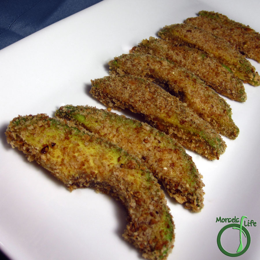 Morsels of Life - Avocado Fries - A crispy, breadcrumb shell encasing a slice of avocado, baked to perfection for some smooth, warm, and creamy avocado fries.