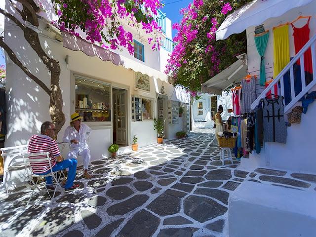 Passeio pelas ruas de Chora, Mykonos