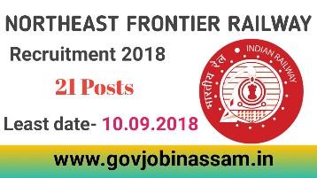 Northeast Frontier Railway Recruitment 2018,govjobinassam