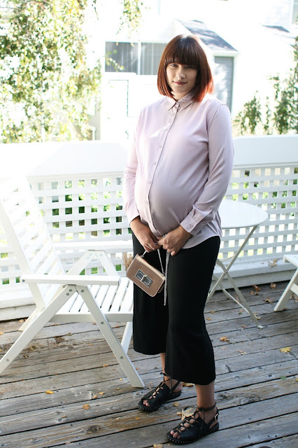 Third trimester, Maternity style, Pregnancy, OOTD, Fbloggers, Fashion, Pink, Uniqlo, Rayon shirt