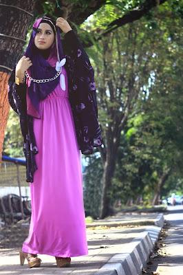 Foto Cewek Model  hijab yang cocok untuk baju kaftan Foto Cewek Model  hijab yang simple