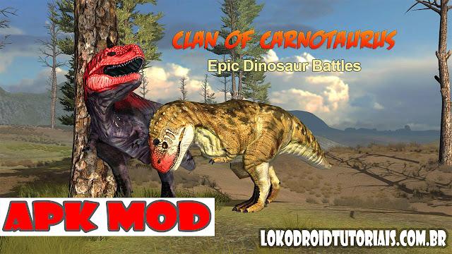 Clan of Carnotaurus APK MOD tudo infinito