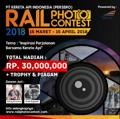Lomba Photo Internasional 2018 di PT Kereta Api Indonesia, Hadiah 30 Jt [Gratis]