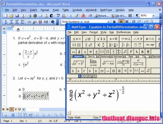 Download MathType 7.3.1.438 Full Key – Trình soạn thảo phương trình toán học