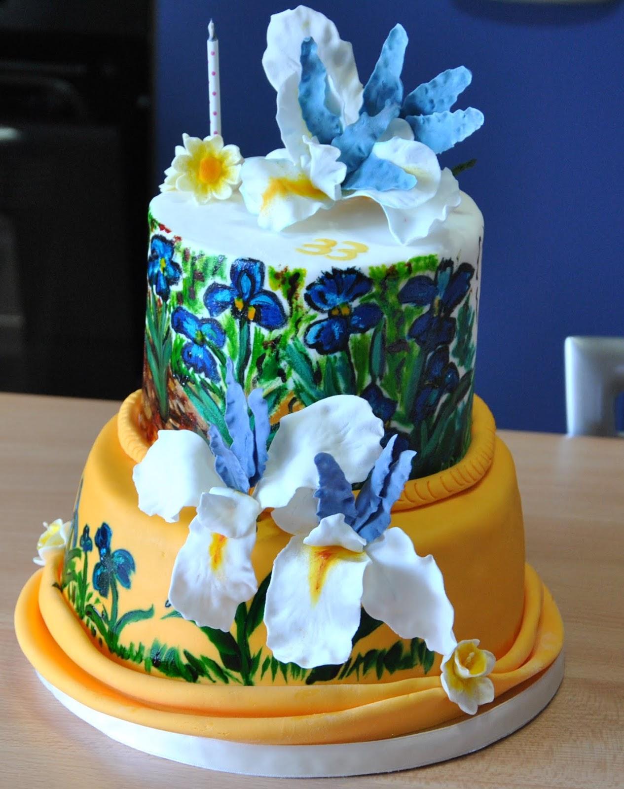 Le Torte Decorate Di Cetty G Iris Paint Cake Dentro Il