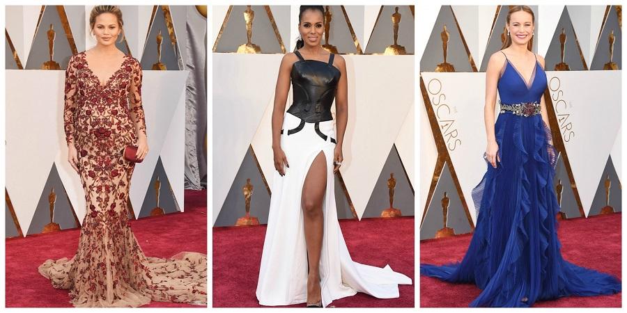 Oscars 2016 fashion, who wore who, Chrissy Teigen, Kerry Washington, Brie Larson