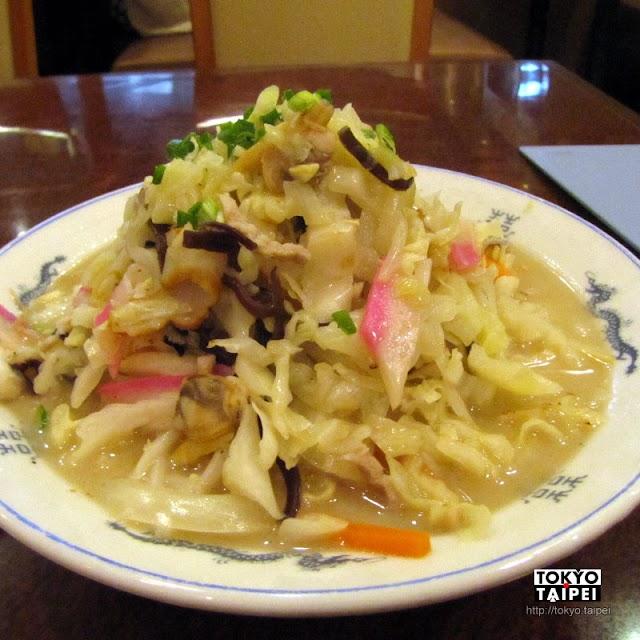 【皇上皇】在長崎駅吃廣東台灣料理店做的長崎名物什錦麵